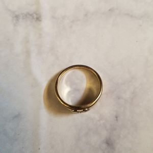 Jewelry - Heart Gold Tone Ring Clear Stone Casual Party Home